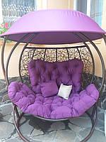 Гойдалка кокон двомісна фіолетова, фото 1