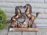 """Зажигалка сувенирная """"Два коня"""" (Турбо пламя)+ подсветка + музыка, фото 1"""