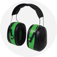 Наушники с шумоподавлением 32dB зелёные усиленный мягкий наголовник