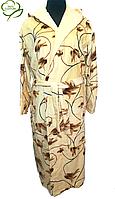 Махровый женский халат с капюшоном, 100% Хлопок Турция