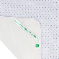Пеленка  Эко Пупс™   непромокаемая  65х90см  Soft Touch впитывающая Голубой, звездочки, фото 1
