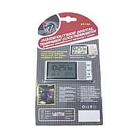 Термометр - часы автомобильные, показывает температуру воздуха в салоне авто, за бортом и время.