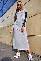 Светло-серое платье 1215.3675 ТМ Seventeen 42-52  размер