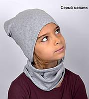 Шапка с шарфом хомутом, фото 1