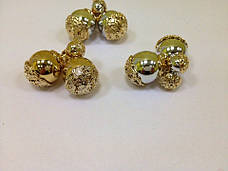 Серьги-пусcеты Dior Золотая чаша, фото 3
