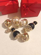 Серьги-пусcеты Dior Золотая чаша, фото 2