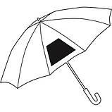 Зонт-трость c цветными спицами и ручкой CANCAN Красный, фото 2