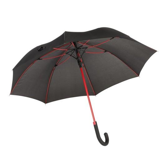 Зонт-трость c цветными спицами и ручкой CANCAN Красный