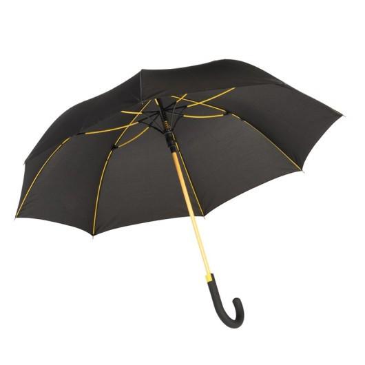 Зонт-трость c цветными спицами и ручкой CANCAN Желтый