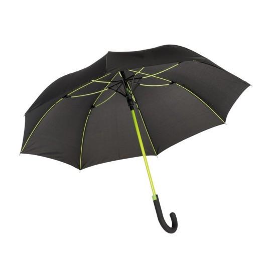 Зонт-трость c цветными спицами и ручкой CANCAN Зеленый