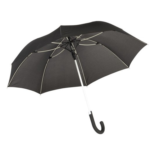 Зонт-трость c цветными спицами и ручкой CANCAN