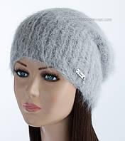 Зимняя удлиненная шапка Ребекка цвет дымка