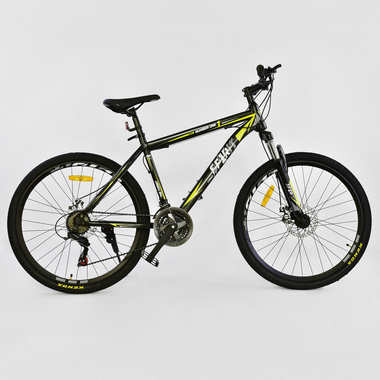 Велосипед Спортивный Corso Spirit 26 дюймов JYT 001 - 2261 Black-Yellow Собран на 75%