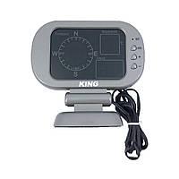 Автомобильный термометр + компас, показывает температуру в салоне авто /время /место нахождения