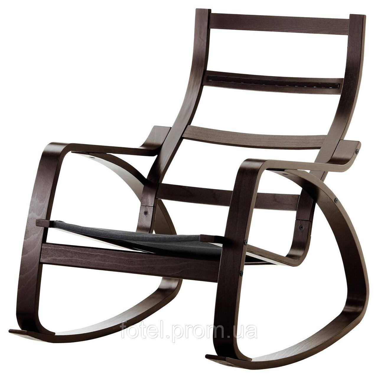 Ikea Poäng каркас кресла качалки черно коричневый 20224018 202 240 18 продажа цена в львове товары общее от Fotel Com Ua 953297252