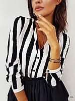 Женская шикарная рубашка в полоску