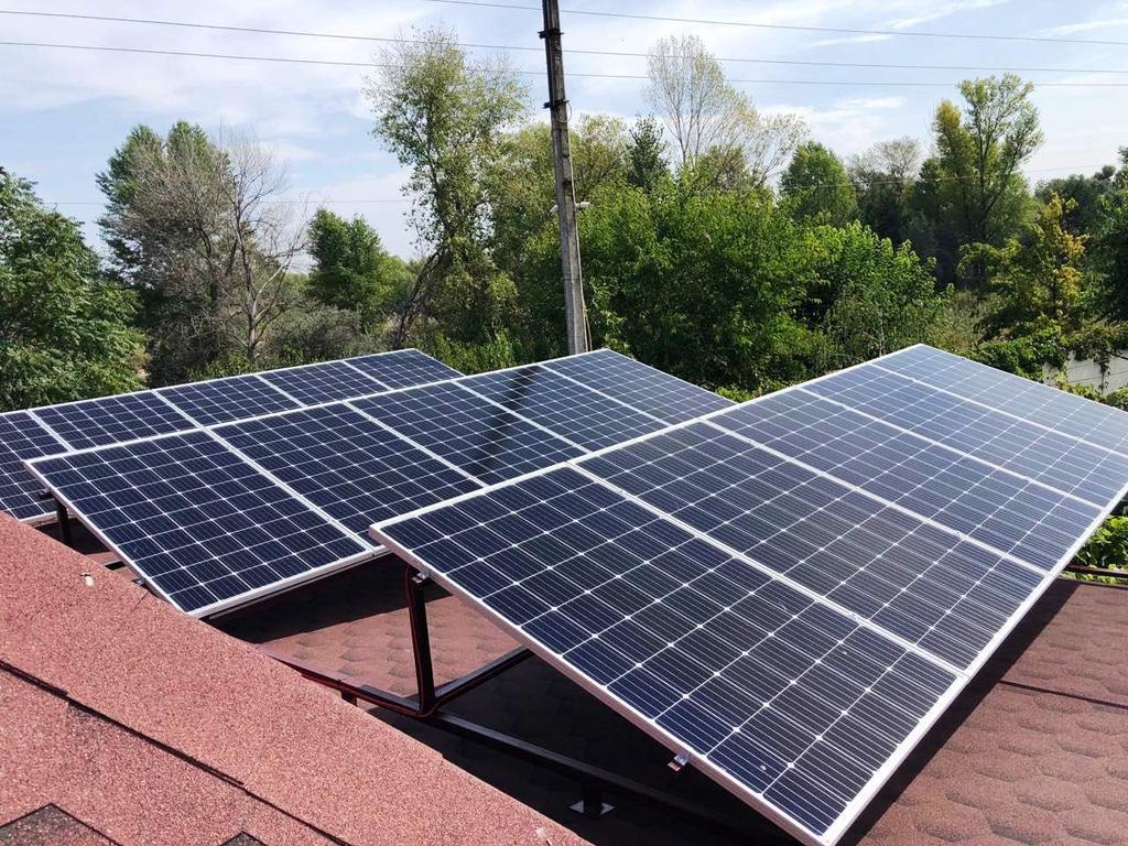 """Кулеши солнечная электростанция под """"зеленый"""" тариф мощностью 4,7 кВт Risen + Huawei Днепропетровская область"""