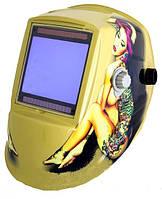 Сварочная маска хамелеон WH 9801 с девушкой+ комплект стёкол 10 наружных и 2 внутренних