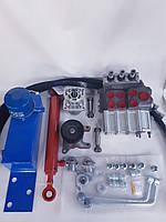 Комплект гидравлики с гидроцилиндром и трехсекционным распределителем на мотоблок/минитрактор