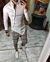 Мужская классическая рубашка модная белая