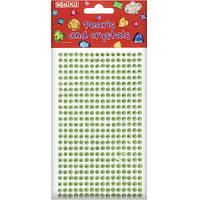 Стразы самоклеющиеся зеленые Maxi MX61605-09