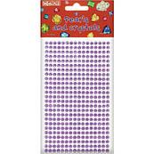 Стразы самоклеющиеся фиолетовые Maxi MX61605-10