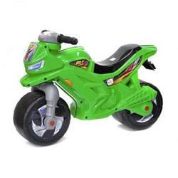 Мотоцикл - Каталка - толокар для катания ребенка зеленый  sct