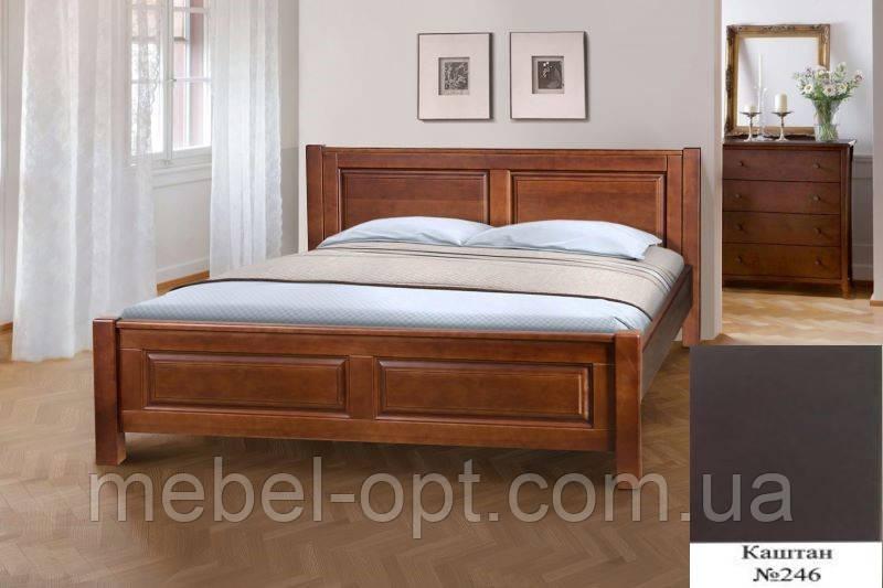 Кровать полуторная деревянная Ланита с изножьем 140х200, цвет каштан