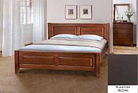 Кровать полуторная деревянная Ланита с изножьем 140х200, цвет каштан, фото 1