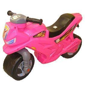 Мотоцикл 2-х колесный, розовый  sct