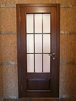 Межкомнатная деревянная дверь из массива ясеня.