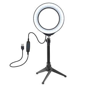 LED кольцо для блогеров Puluz 16 см. диаметр+ трипод
