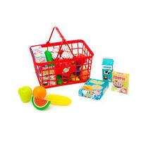 """Корзина с продуктами """"Супермаркет"""", 23 эл (красная) 379 в.5 sco"""