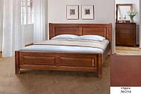 Кровать полуторная деревянная Ланита с изножьем 140х200, цвет орех, фото 1