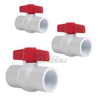 Шаровый Пластиковый Кран №2 для жидкостей, воздуха или газа с резьбой 20 мм, фото 1