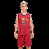Форма баскетбольная детская и подростковая NBA CLEVELAND  (PL, р-р M-2XL-130- 165 см, бордовый)