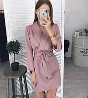Платье пиджак женское пудра мокко чёрное 42-44 44-46