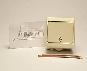 Nemli выключатель проходной 1-ый влагозащищенный кремовый, фото 2