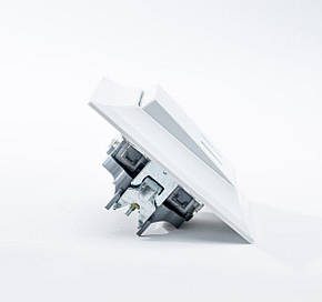 Neoline выключатель 2-ой с подсветкой белый, фото 2