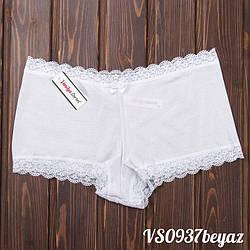 Трусы шортики женские кружевные Vanilya Secret (Турция) VS0937beyaz