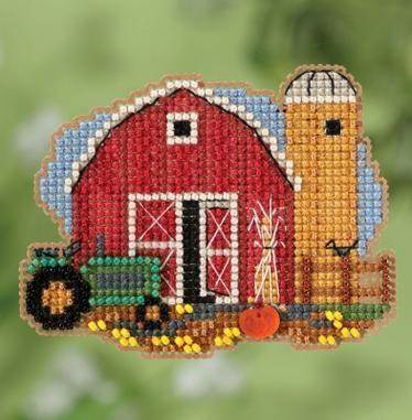 Набор для вышивки крестиком и бисером Harvest Barn Mill Hill