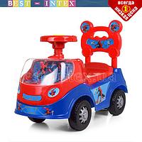 Каталка-толокар для детей 238-SP Человек Паук с музыкой и светом (сине-красная)