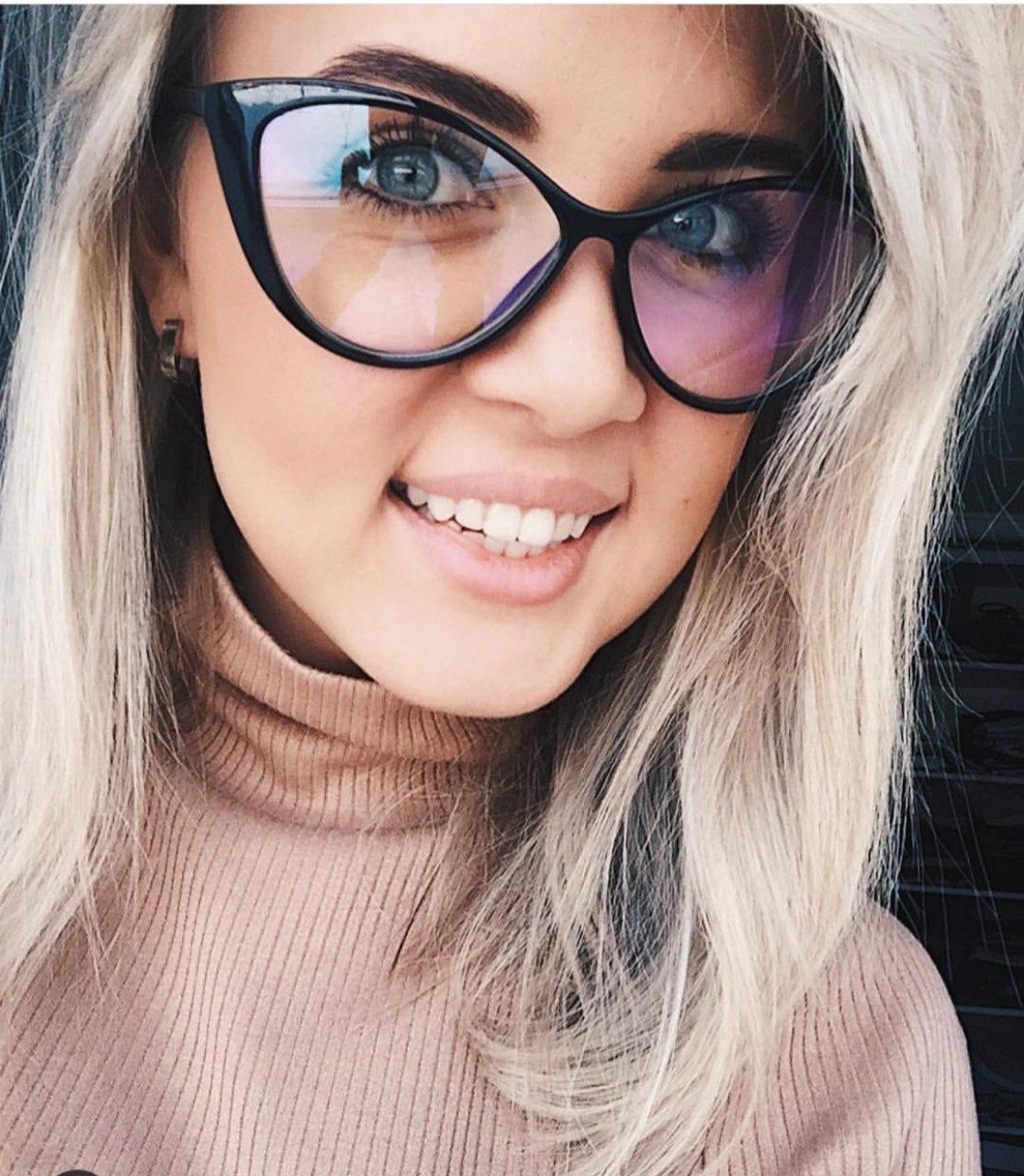 Женские имиджевые очки Кошачий глаз R3021 черные