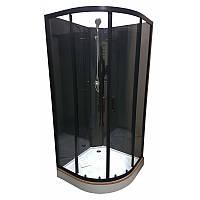Душевой бокс Veronis BKN-1-07 black, низкий поддон, 90х90х192, фото 1