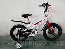 """Детский Велосипед """"Crosser-14"""" Белый. Суперлегкий. MAGNESIUM Премиум"""