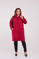 Женское Кашемировое пальто с карманами Батал