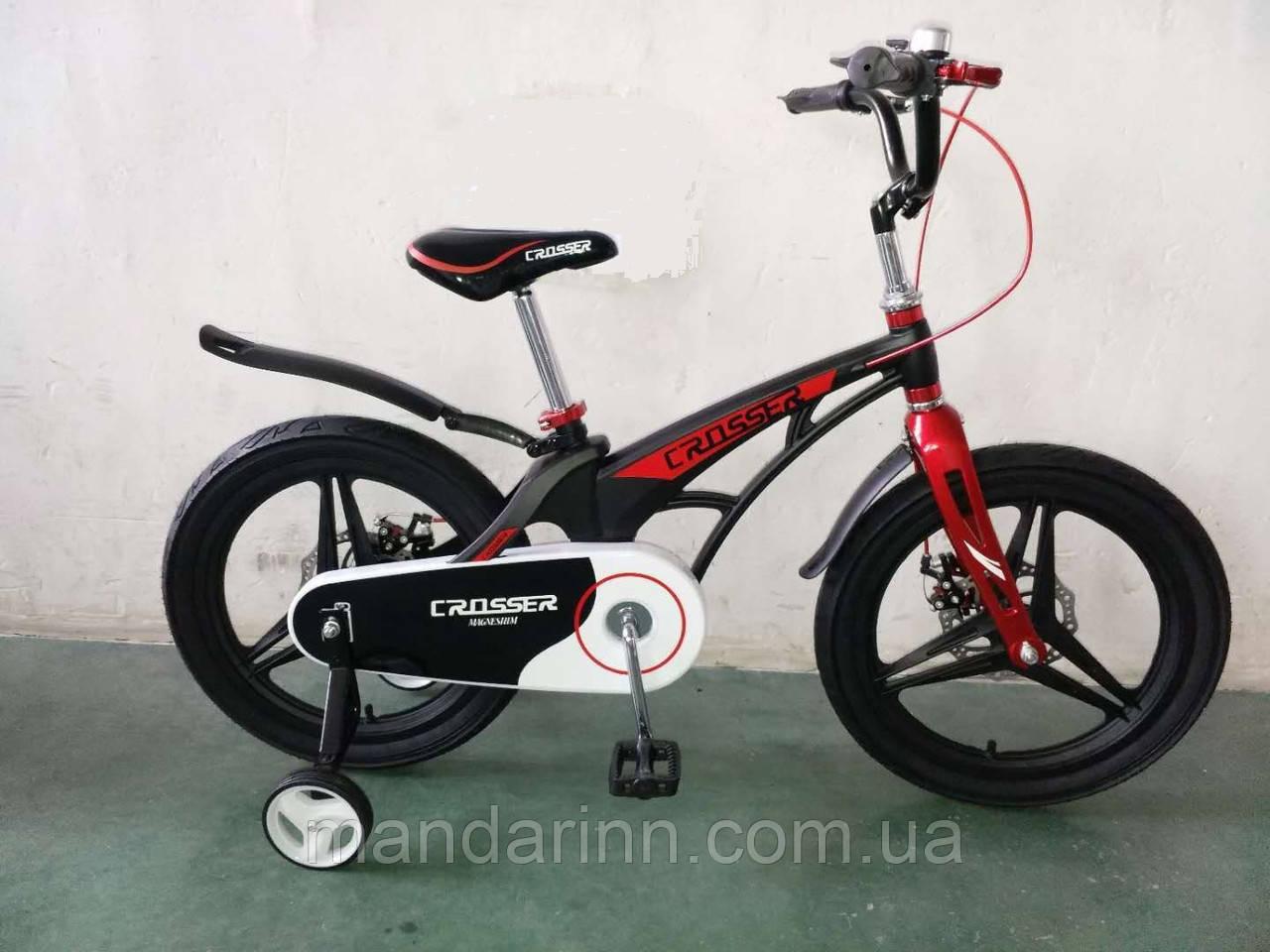 """Детский Велосипед """"Crosser-14"""" Черный. Суперлегкий.Премиум"""