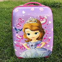 Детский чемодан на колесах для девочки Принцесса София, фото 1