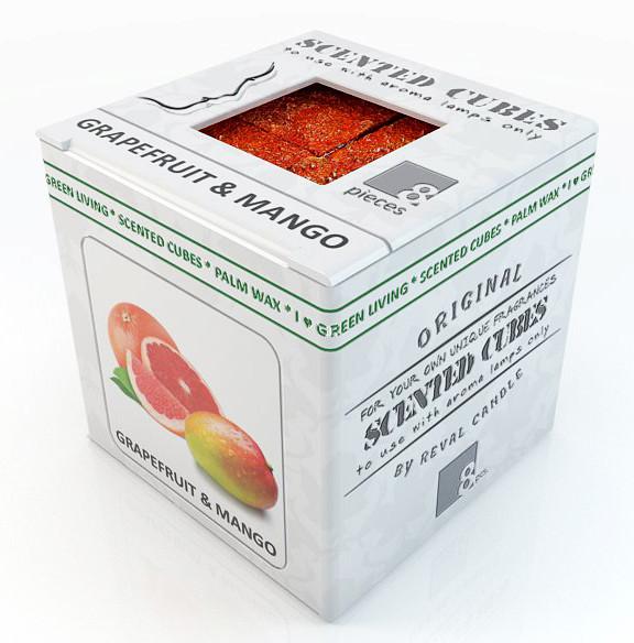 Грейпфрут и манго.  Аромавоск, аромамасла, благовония, эфирное масло для аромаламп