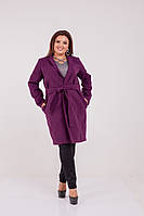 Женское Кашемировое пальто на запах Батал